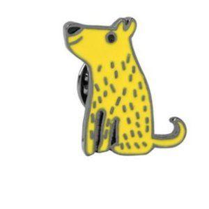 Sitting Pup Puppy Dog Pin Brooch